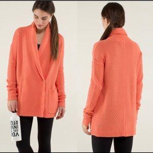 Lululemon | Post Practice Peach Cardigan Size 8